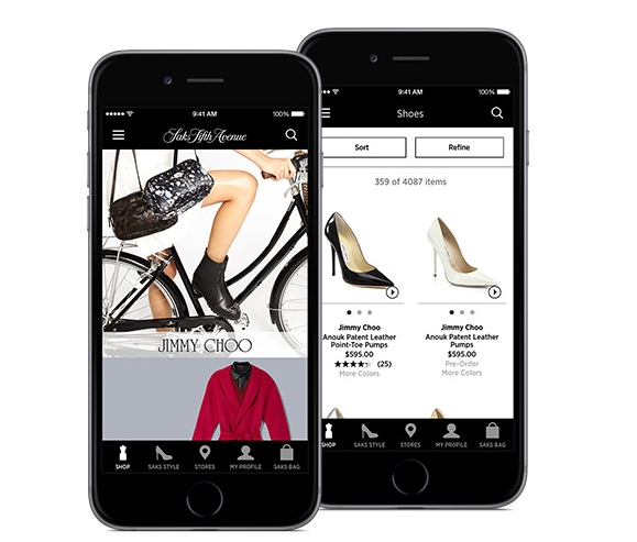 Saks Fith Avenue mobile app