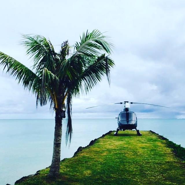 Samoa heli - Sheraton Samoa Aggie Grey's Resort