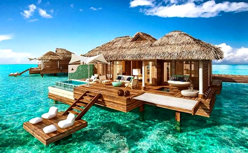 Sandals Royal's first over-the-water suites offer the full experience of living on the ocean-
