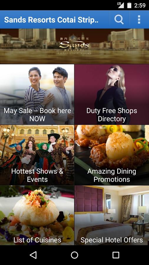 Sands Resorts Cotai Strip app