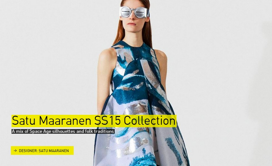 Satu Maaranen SS2015 collection- Fashion- The Designs of the Year 2015 nominees @ Design Museum London