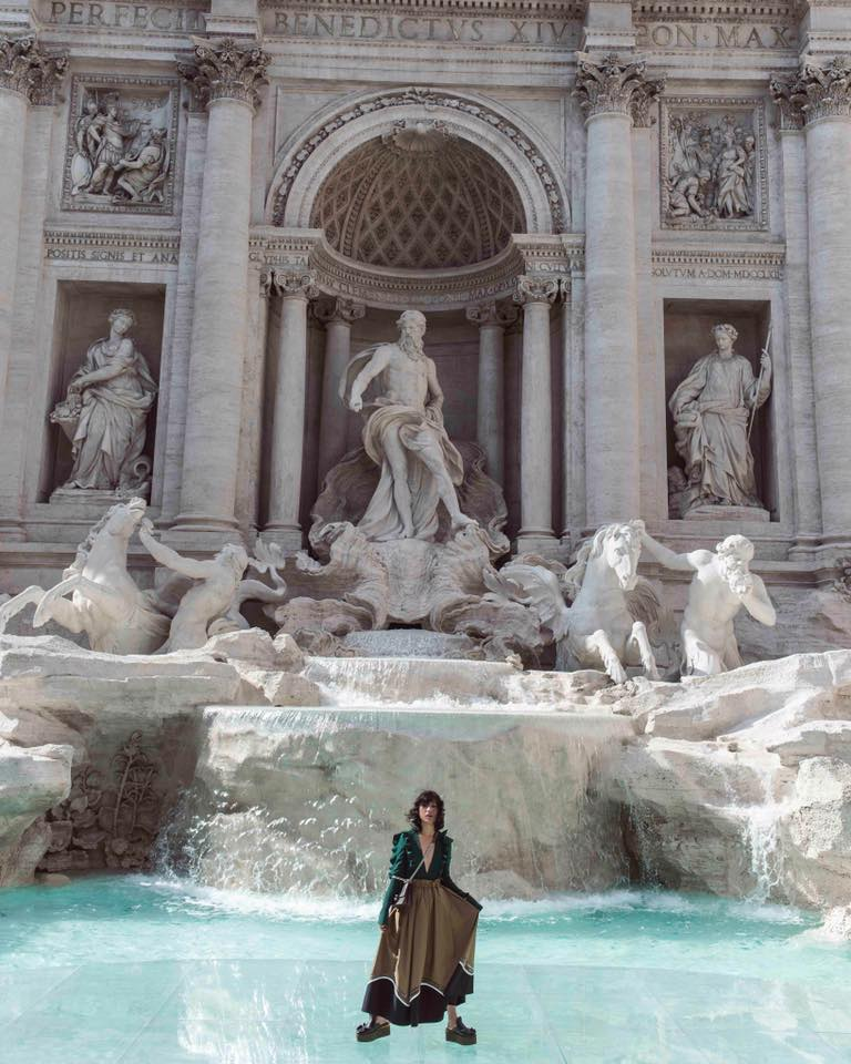 Self-portrait shot by Photographer and Creative Director Margaret Zhang at the Trevi Fountain