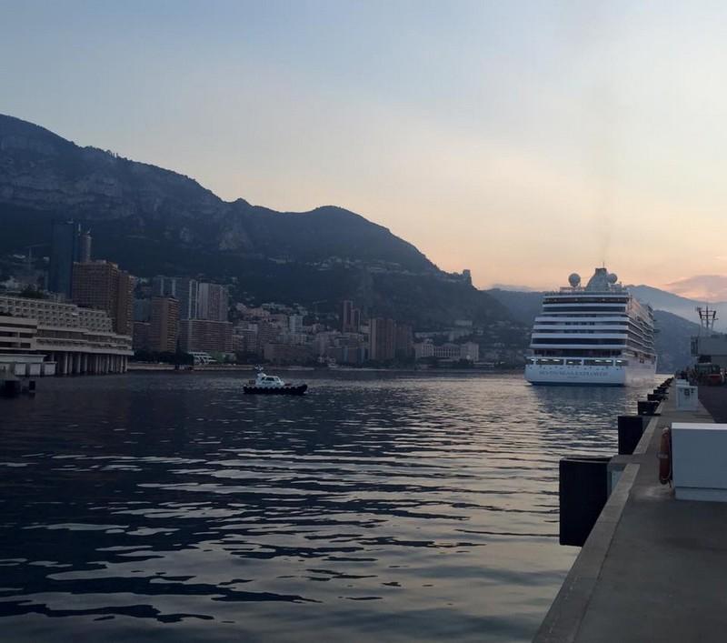 SevenSeasExplorer arriving in Monte Carlo, Monaco