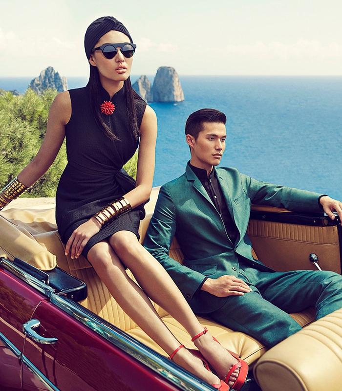 Shanghai Tang SS 2015 ad campaign Capri Italy 2015-turban
