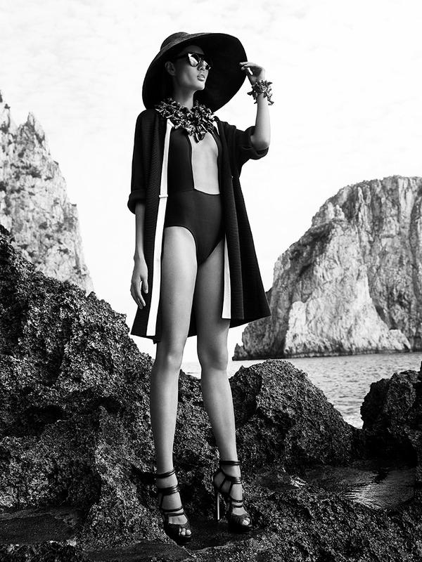 Shanghai Tang SS 2015 ad campaign Capri Italy-beachwear