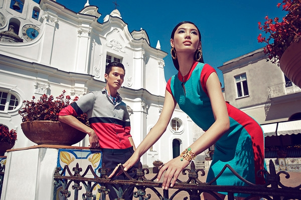 Shanghai Tang SS 2015 ad campaign Capri Italy