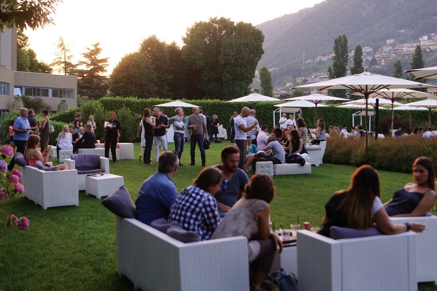 Sheraton Lake Como Hotel 2015 happy hour in the park June 4