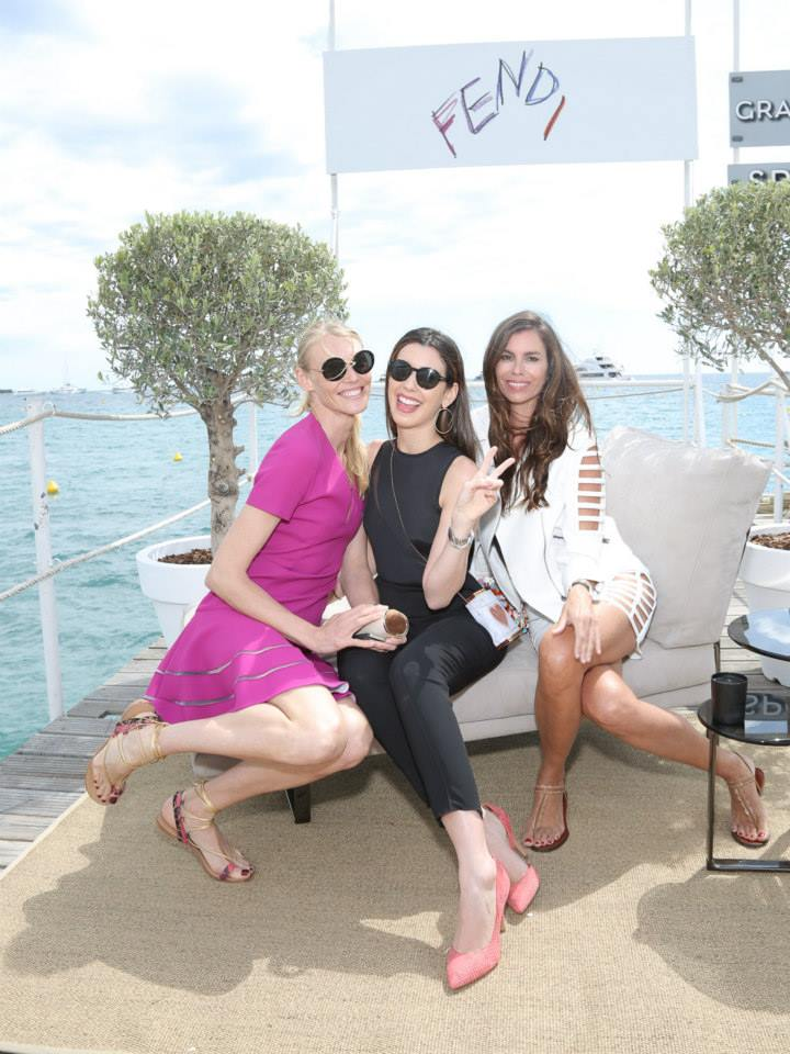 Shirley Mallmann, Camila Coutinho and Christina Pitanguy at the 'Fendi by Karl Lagerfeld' book presentation in Cannes