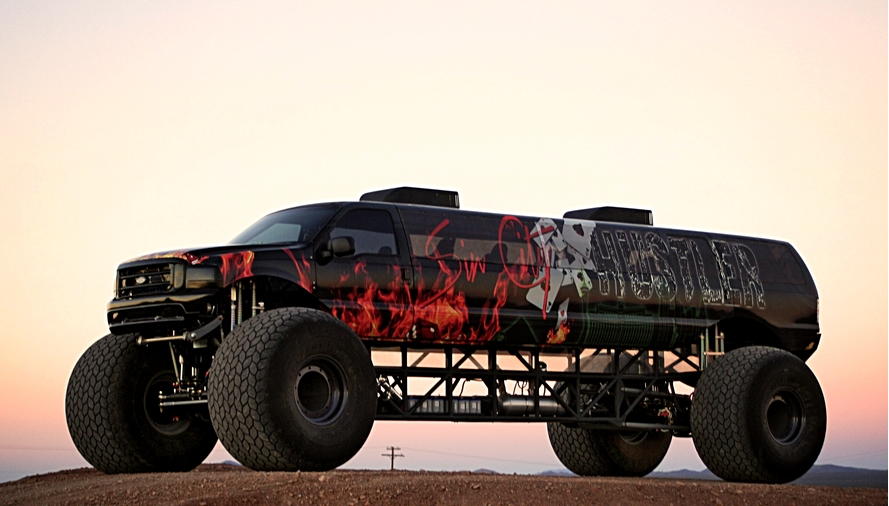 Sin City Hustler - the world's first luxury monster truck-lateral