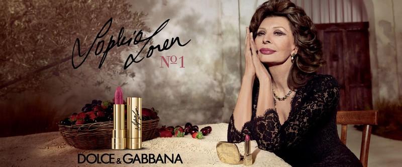 Sophia Loren for Dolce & Gabbana Lipstick