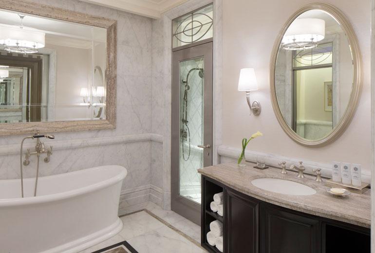 St Regis Dubai hotel -Bathroom shower detail
