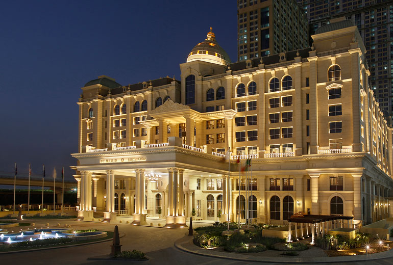 St Regis Dubai hotel - Hotel Exterior by night