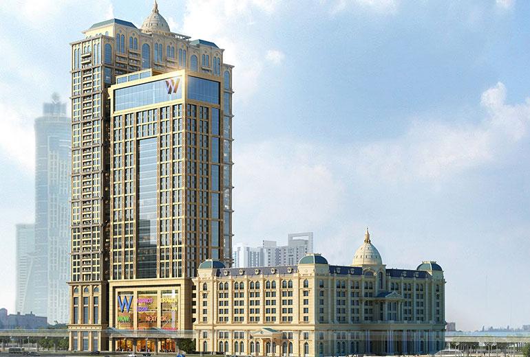 St Regis Dubai hotel - Hotel exterior road view