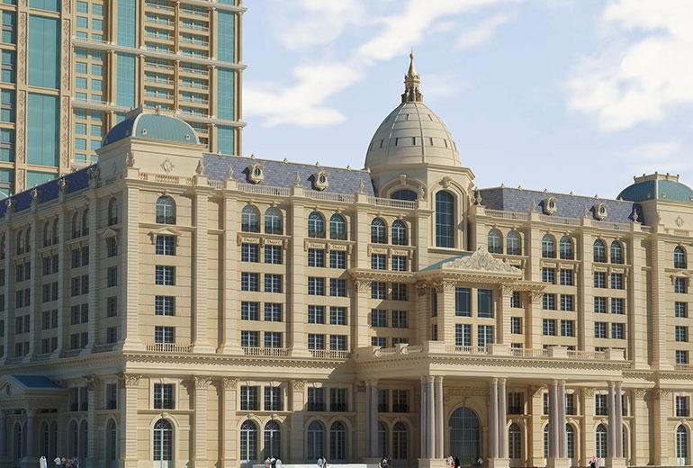 St Regis Dubai hotel - Hotel front close-up view