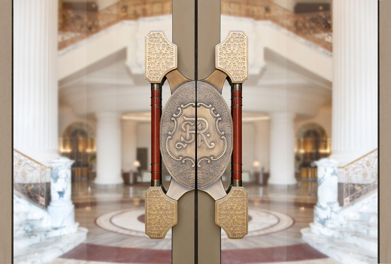 St Regis Dubai hotel -Main Entrance Door Detail