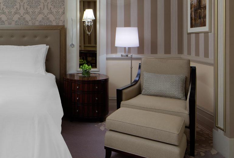 St Regis Dubai hotel - bedside sofa