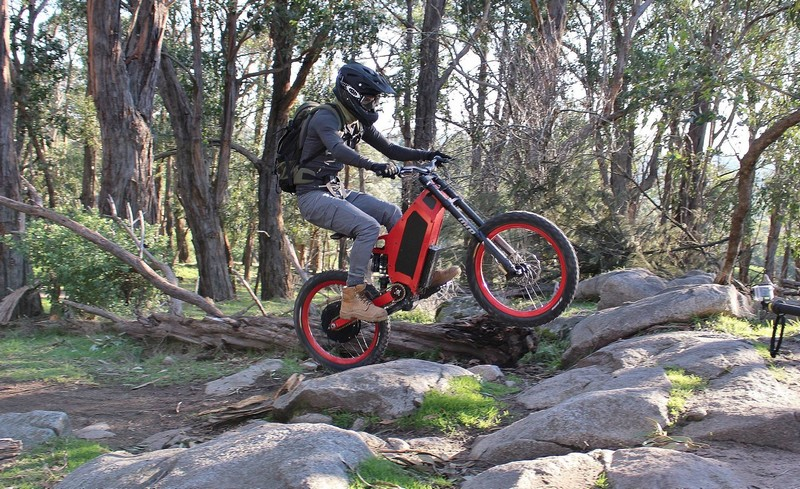 Stealth Electric Bikes in action