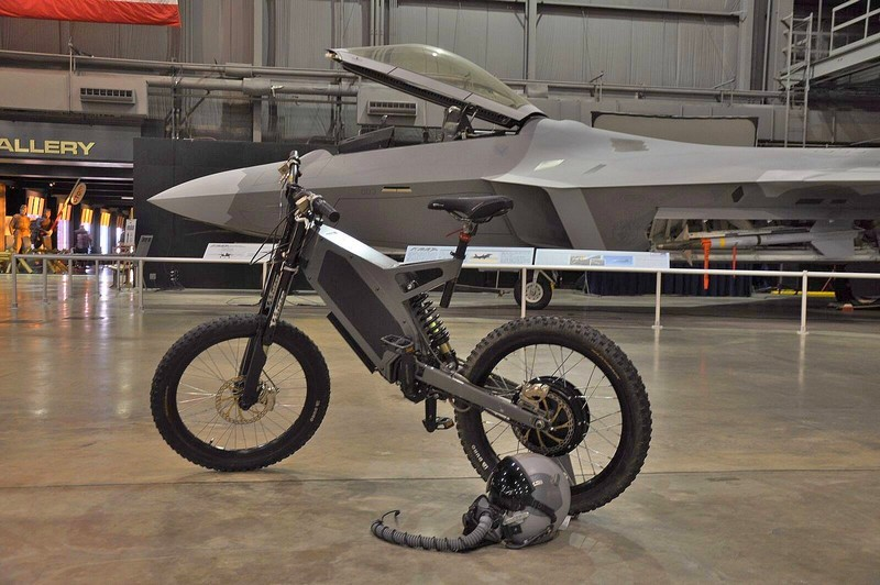 Stealth Electric Bikes in the hangar