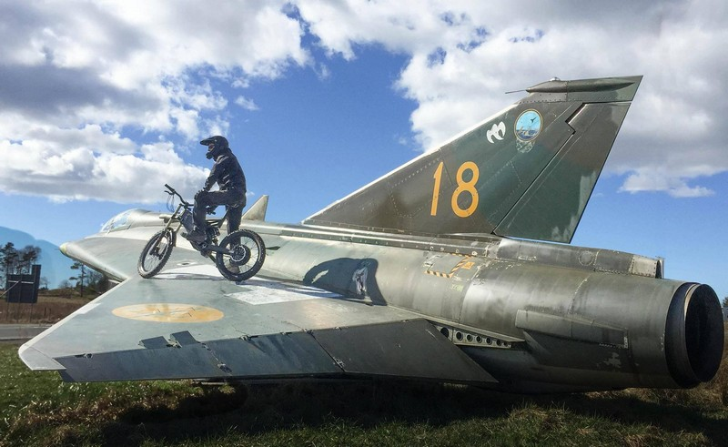 Stealth Electric Bikes ready for a flight