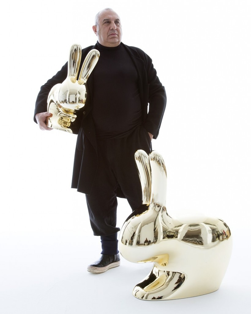stefano-giovannoni-rabbit-gold-chair