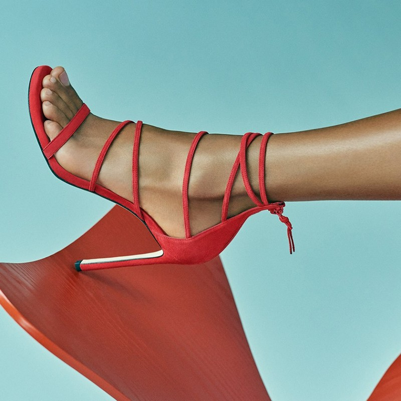 Stuart Weitzman ad campaign red