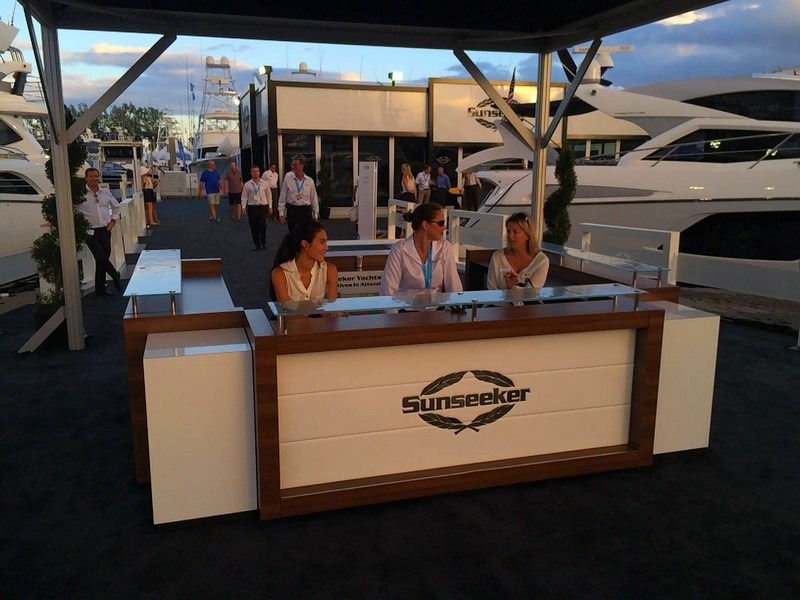 SunseekerOnShow at For Lauderdale International Boat Show 2015--