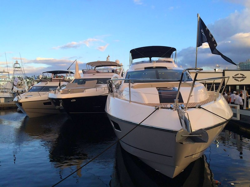 SunseekerOnShow at For Lauderdale International Boat Show 2015---