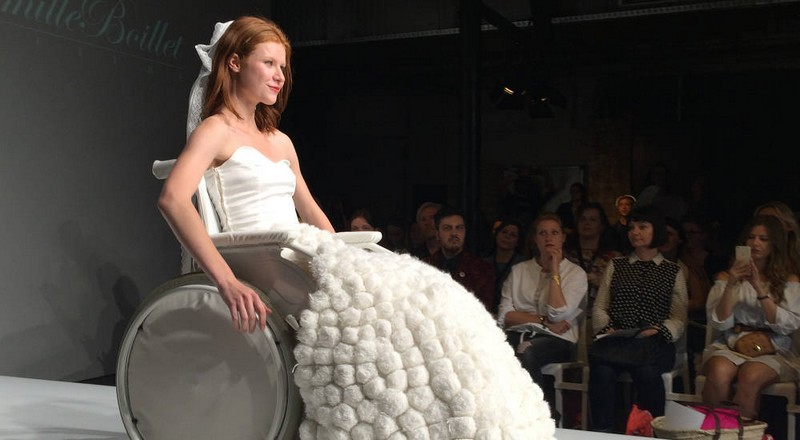 Sustainable fashion - Camille Boillet, Winner of Montfermeil fashion show shines at Green Showroom Berlin