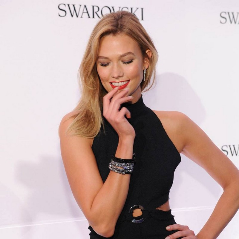Swarovski brand ambassador Karlie Kloss attends Swarovski bebrilliant - with Karlie Kloss at Top Of The Rock NYC