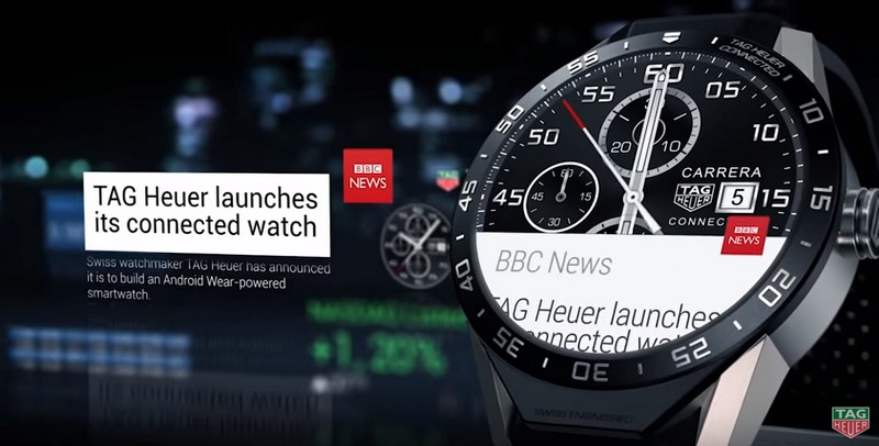 TAG Heuer Connected Watch  weather display-