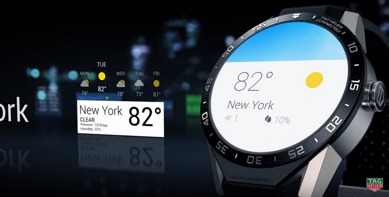 TAG Heuer Connected Watch  weather display