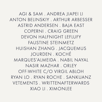 THE LVMH PRIZE SHORTLISTED DESIGNERS