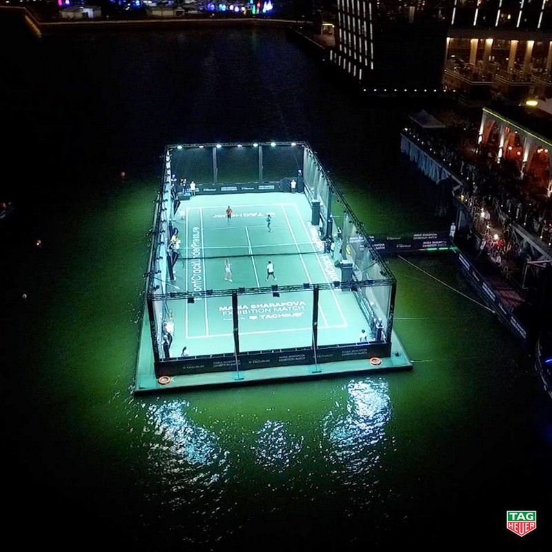 Tag Heuer - Singapore's first floating tennis platform 2015 -
