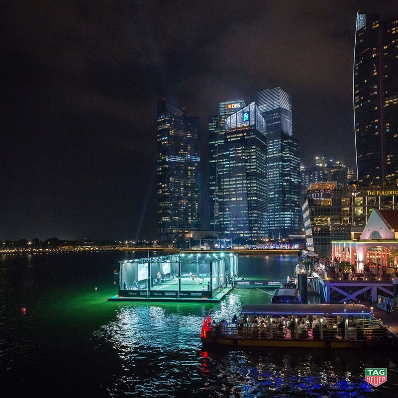 Tag Heuer - Singapore's first floating tennis platform 2015-00