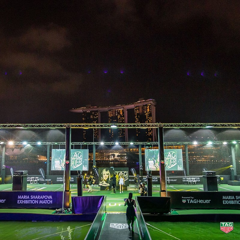 Tag Heuer - Singapore's first floating tennis platform 2015-