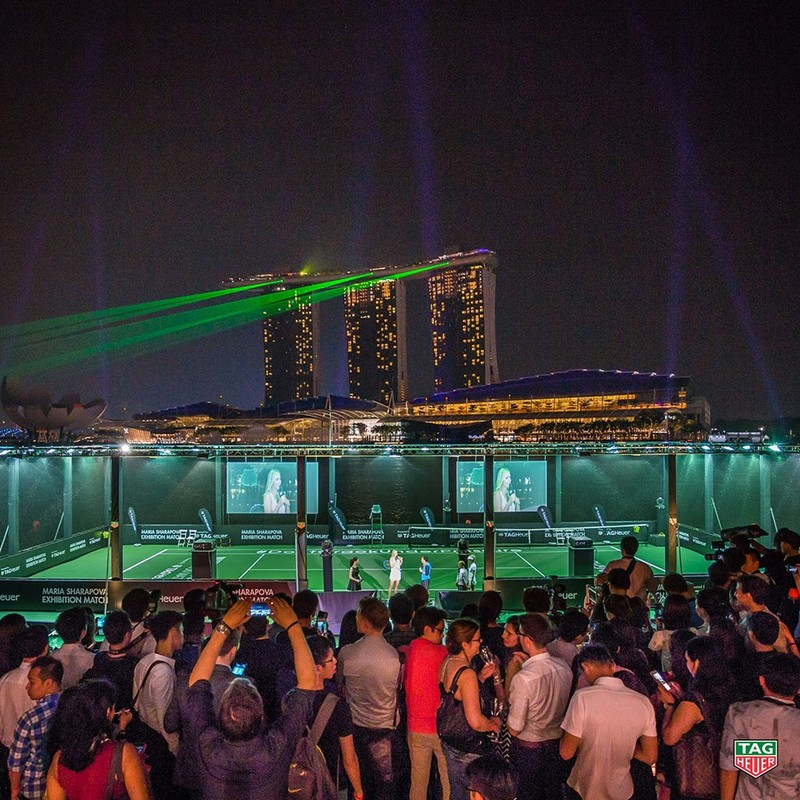 Tag Heuer - Singapore's first floating tennis platform 2015