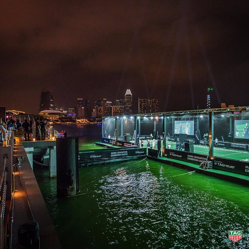 Tag Heuer - Singapore's first floating tennis platform