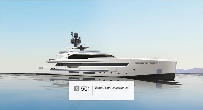 Tankoa Yachts S501 yacht - 2015 renderings