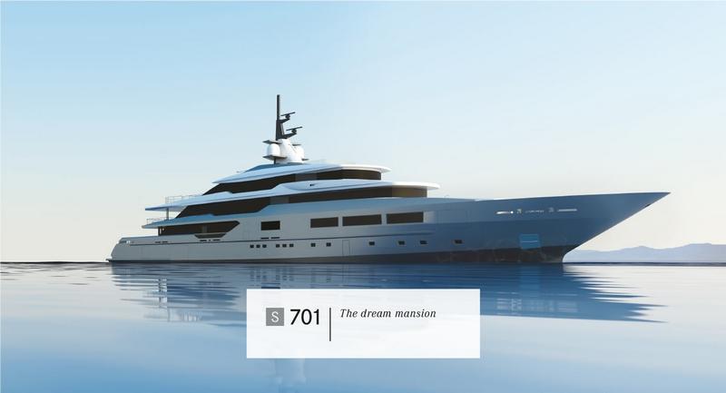 Tankoa Yachts S701 yacht - 2015 renderings