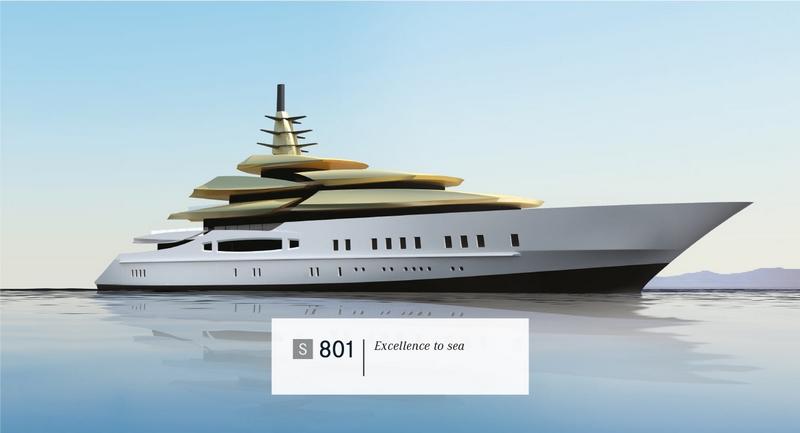 Tankoa Yachts S801 yacht - 2015 renderings