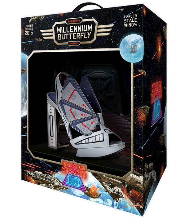 The NicholasKirkwood 10 Year Number Edition Anniversary Collection - Millennium Butterfly shoes