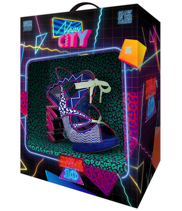 The ‪NicholasKirkwood‬ 10 Year Number Edition Anniversary Collection - Neon City shoes