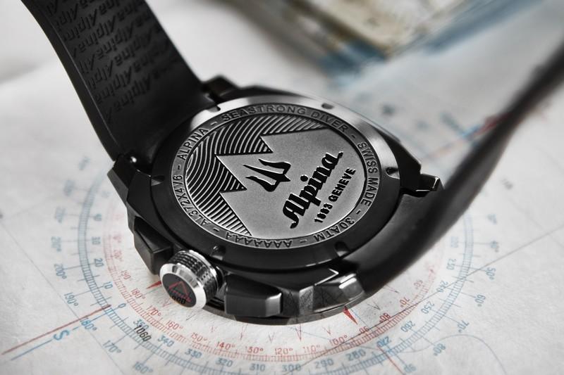 The Alpina Seastrong Diver 300 Black Chronograph Big Date  -2016