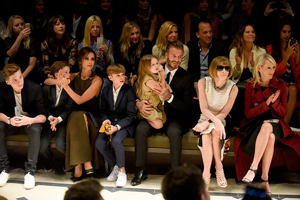 The Beckhams enjoyed the Burberry show from the front row