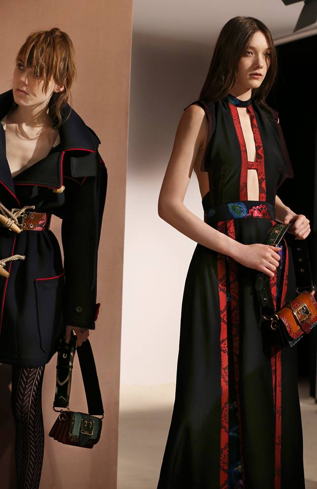 The Burberry AW2016 womenswear - Coats and dresses are updated with contrasting trim, and styled with The Patchwork bag