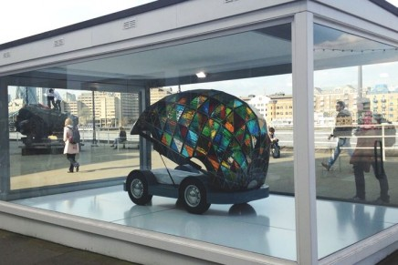 The Stained Glass Driverless Car of the Future: You can sleep while the car takes you to the destination