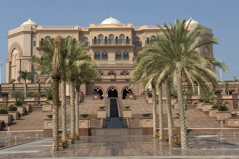 The Emirates Palace in Abu Dhabi-