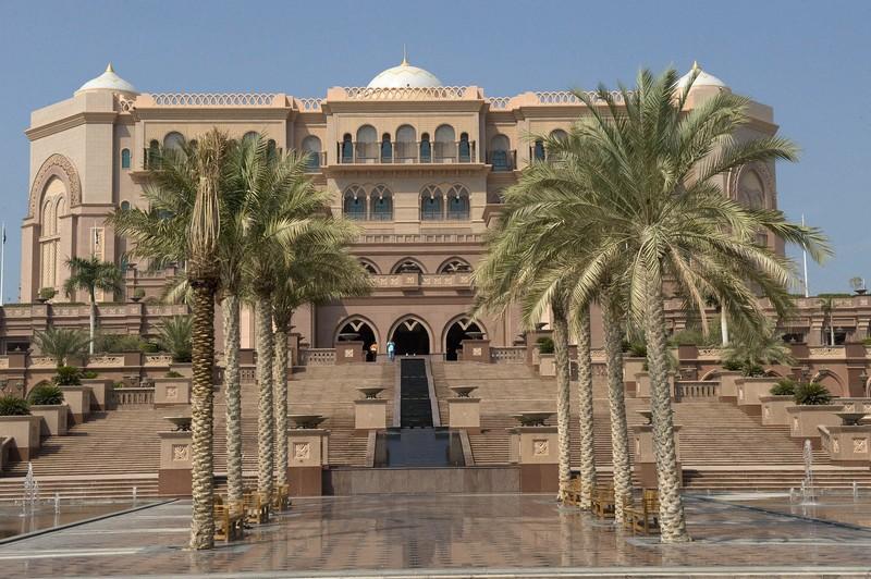 The Emirates Palace in Abu Dhabi-
