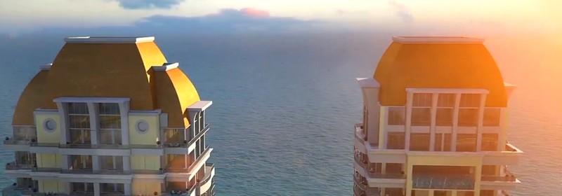 The Estates at Acqualina Miami- aerial view-