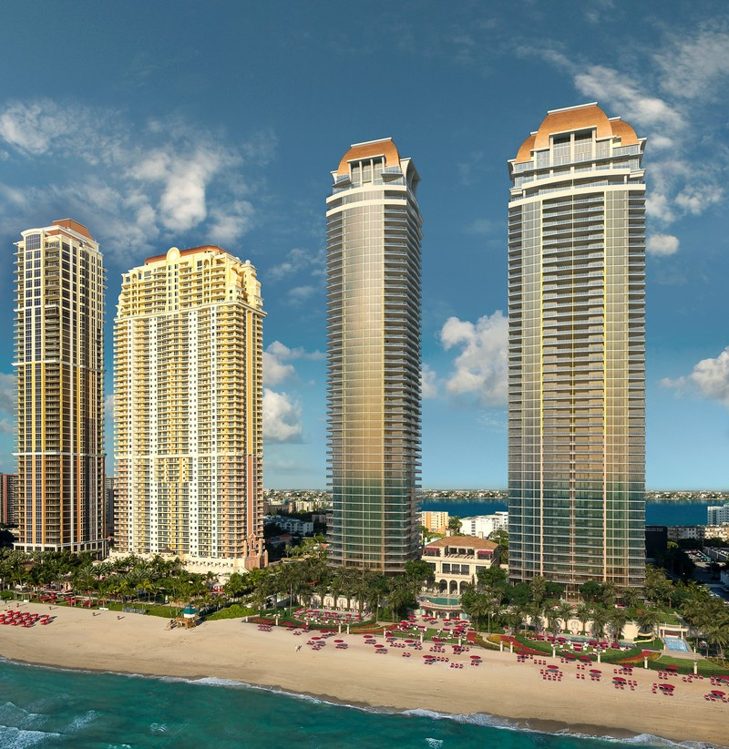 The Estates at Acqualina Miami- aerial view